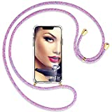 mtb more energy® Collier pour Huawei P8 Lite 2017, Honor 8 Lite (5.2'') - Licorne violete/Or -...