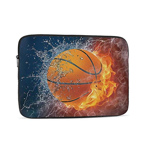 13 15 Inch Laptop Sleeve Bag Compatible with MacBook Pro Air Waterproof Shock Resistant Notebook Protective Bag Carrying Case with Small Case - Basketball