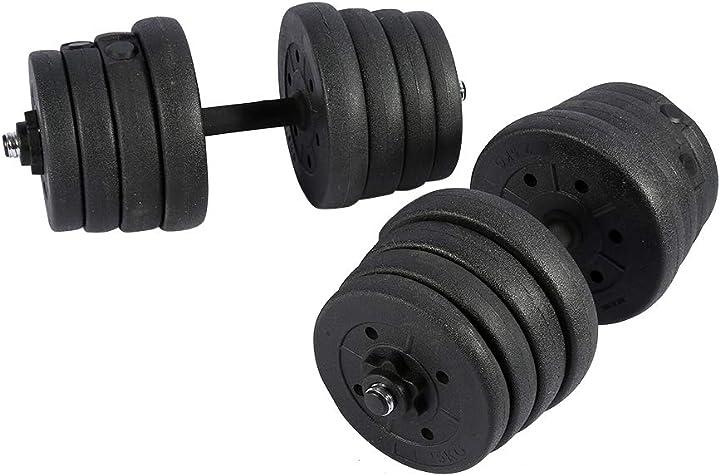 Victool manubri, 2x set di manubri allenamento con pesi in palestra bicipiti tricipiti allenamento 30kg B08MXM7NCY