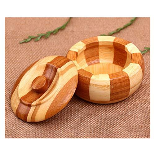 Sdvklly Accesorios para el hogar de los ceniceros de bambú Accesorios para el hogar Creativo Portátil Cigarrillo Cenillero Cenillero Cenicero para el hogar