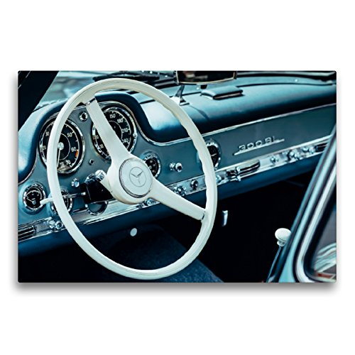 CALVENDO Premium Textil-Leinwand 75 x 50 cm Quer-Format Mercedes Benz 300 SL Flügeltürer, 1955, 2996 CCM, 215 PS, 250 km/h, Leinwanddruck von Dieter Meyer