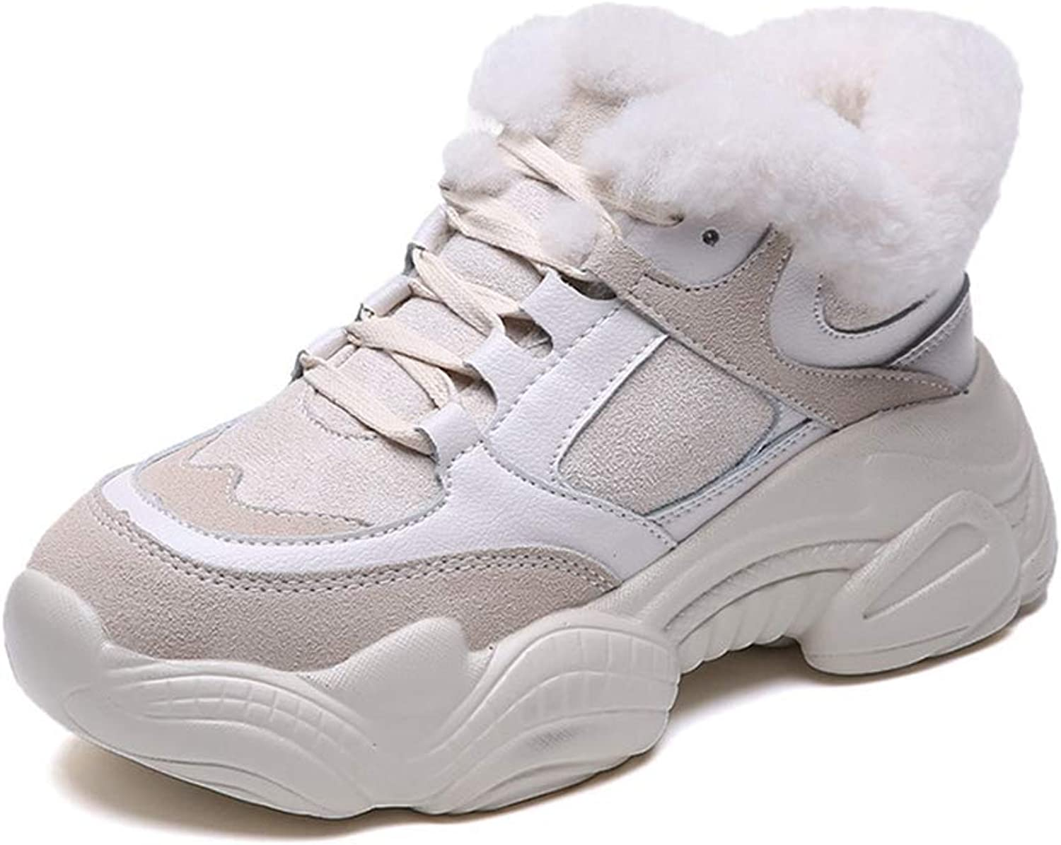 T-JULY Women Fashion Flock Comfortable Casual Plush Winter shoes Wedges Tenis Sneakers