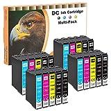 D&C 20 cartuchos de tinta compatibles para Epson 129XL T1291 T1292 T1293 T1294 para Epson Workforce WF-3520 WF-3540 WF-7525 WF-7515 Stylus SX235W SX425W SX445W SX535WD Stylus Office BX630FW