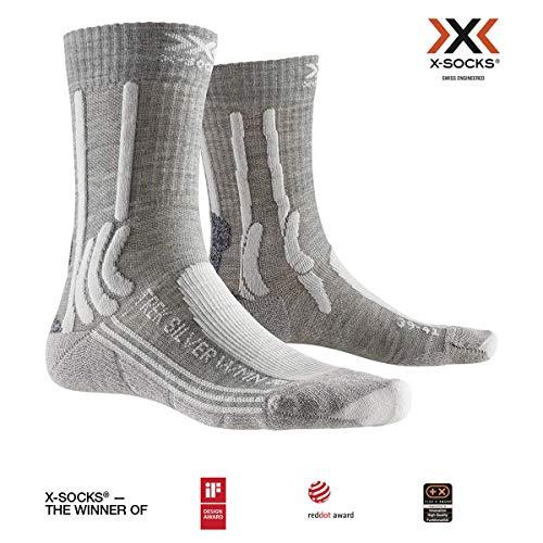 X-SOCKS Trek Women Chaussette Femme, Dolomite Grey Mélange/Pearl Grey, FR : L (Taille Fabricant : 39-40)