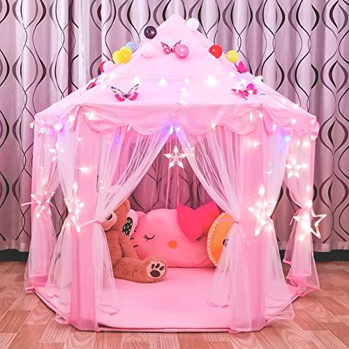 Junovo Ultra Soft Rug for Nursery Children Room Baby Room Home Decor Dormitory Hexagon Carpet for Playhouse Princess Tent Kids Play Castle Diameter 55-inch Green