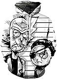 Chaos World Sudaderas con Capucha Hombre 3D Impreso Funny Cartoon Unisex Pullover Hoodie con Bolsillos (Un Ojo,2XL)