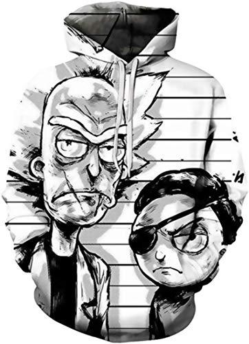 Chaos World Sudaderas con Capucha Hombre 3D Impreso Funny Cartoon Unisex Pullover Hoodie con Bolsillos (XXL,Un Ojo)