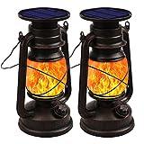 Shinmax Linterna Solar Exterior farolas solares exteriorJardin LED Luz Solar Luces Estilo Vintage...