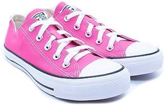 Tênis Converse Chuck Taylor All Star CT00010006 Rosa/Cru/Preto cor:rosa;tamanho:33