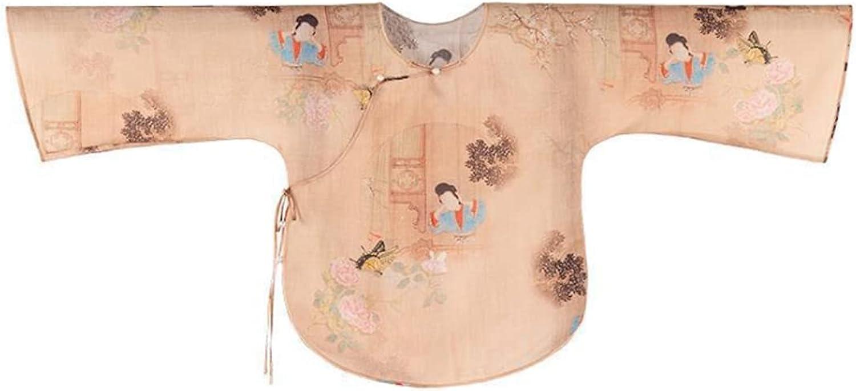 HangErFeng Women's Ancient Chinese Dress Ramie Blend Classical Beauty Prints Oblique Placket Blouse 077