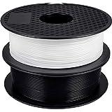 GIANTARM PLA filament para impresora 3D 1.75 mm, 3D printer filament (negro + blanco) 2PCS…