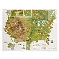 Scratch Off USA ウィスキー蒸留器 ポスター メンズ ウィスキー愛好家への理想的なギフト 17 x 22インチ