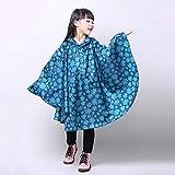 weichuang Chubasquero para niños y niñas, bonito poncho impermeable para la lluvia para niños y niñas (color: estrellas azules, tamaño: S)
