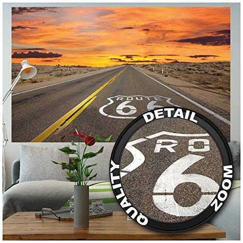 Great Art Route 66 – muurschildering decoratie USA landschap travel highway panorama zonsondergang Amerika wanddecoratie fotobehang wandbehang fotoposter wanddecoratie