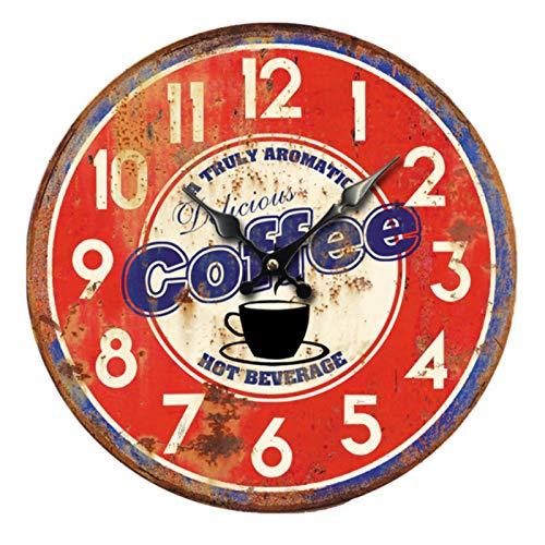 Shabby Chic Reloj De Pared Cubierta De La Botella De Vino Café Reloj para Niños para Regalo Hogar Oficina Cocina Vivero Sala De Estar Dormitorio