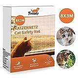 Toozey cat net red de protección de gato para balcón y ventana, red de balcón de 8x3 m,...