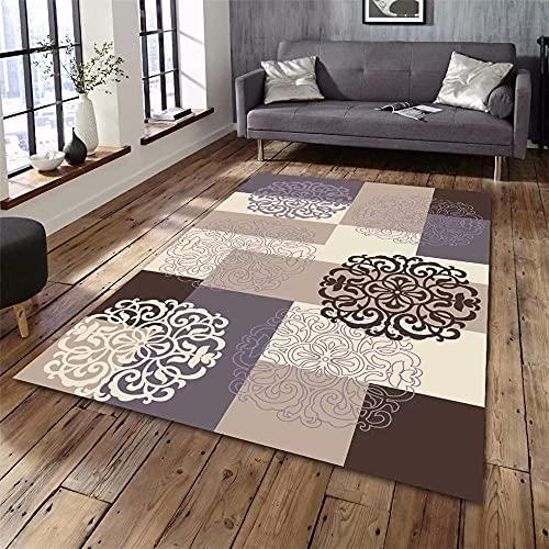 Tapis IKEA Tapis Exterieur Terrasse Modèle de Fleur Classique Style de luxeTapis Circuit Enfant 120x160cm