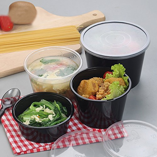 Bureze Lot de 10 boîtes à repas pour micro-ondes 500 ml