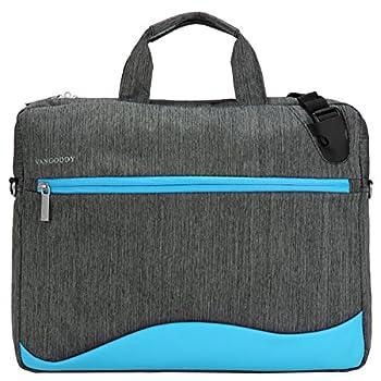 VanGoddy Wave Unisex Messenger Bag for Fujitsu Lifebook Stylistic 15.6 inch Sky Blue