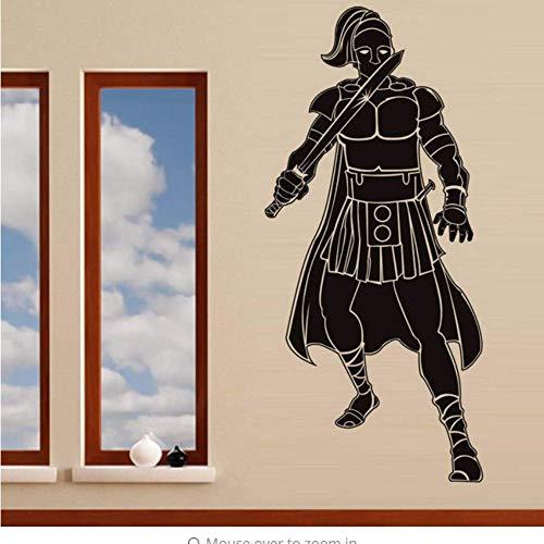 Mutiger Römischer Soldat Mit Schwert Retro Wandaufkleber Wohnzimmer Pvc Selbstklebender Aufkleber 57 * 126Cm