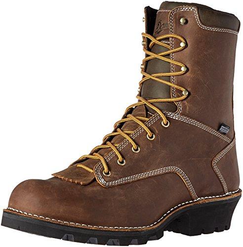 "Danner Men's Logger 8"" Brown Work Boot, 9 D US"