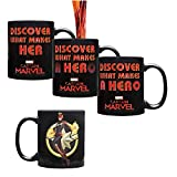 Classic Imports Captain Marvel Heat Changing Mug - Hot Water Activated - 11