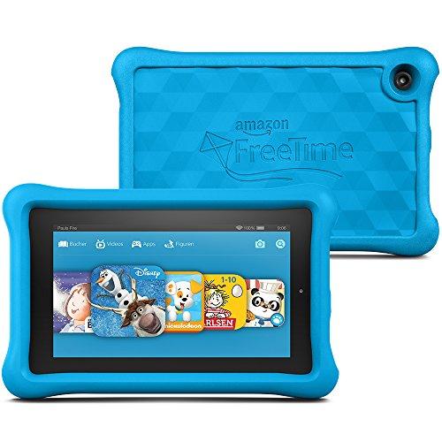 Fire Kids Edition, 17,8 cm (7 Zoll) Display, WLAN, 8 GB, Blau Kindgerechte Schutzhülle