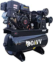 HPDAVV Gas Driven Piston Air Compressor 13HP - One Stage - 30 Gal Tank - 43.5cfm @ Max 125psi - 420CC Engine - for Service Trucks Fit for Ford F-150 Truck Bed