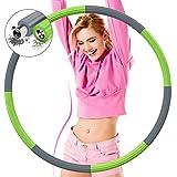 DUTISON Aro de hula hoop para adultos, 1,2 kg, 8 nudos, con núcleo de acero inoxidable, espuma gruesa, peso ajustable, diseño desmontable, para pérdida de peso y fitness