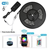 Nexlux LED Strip Lights, WiFi Wireless Smart Phone Controlled 32.8ft Waterproof Light Strip LED Kit...