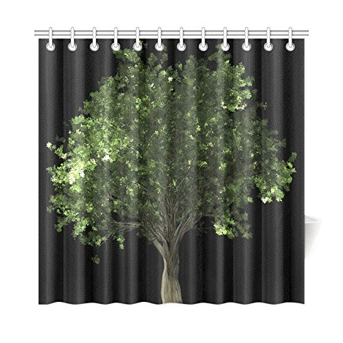 VNASKL Home Decor Bath Curtain Zelkova Serrata Tree Bonsai Zelkova Serrata Polyester Fabric Waterproof Shower Curtain for Bathroom, 72 X 72 Inch Shower Curtains Hooks Included