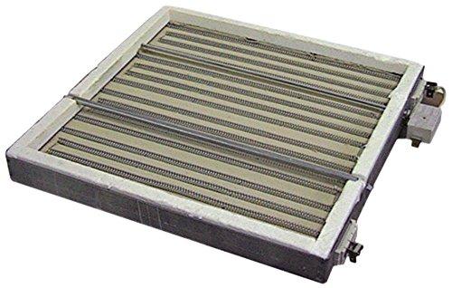 Radiador (4000 W, 400 V, longitud 275 mm, ancho 275 mm, cuadrado)