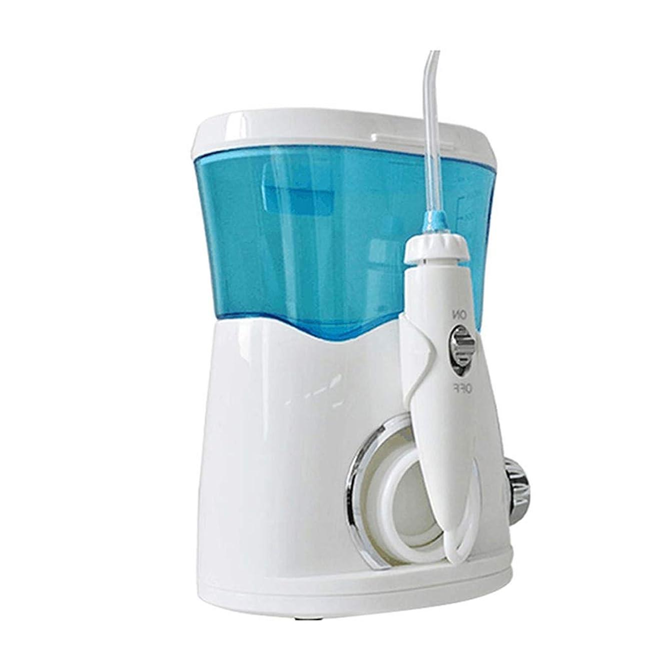 参照謙虚な成熟した歯のための水フロッサー、8つの多機能ジェット機の先端を洗う5つの強度の600mlカウンタートップ歯科水フロスカー