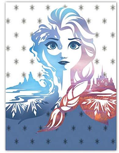 DisneyÿFrozen Fleece deken 100 x 140 cm wit/blauw 100% microfleece