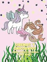 Sirenas y Unicornios Libro para colorear para niños