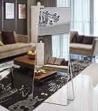 S.O. Home Dressing Mirror Large Floor Mirror Full Length Mirror in Aluminium Frame for The Bedroom Living Room Bathroom Hallway - White