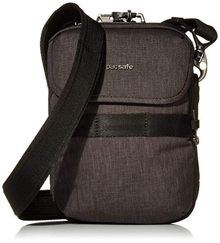 """Pacsafe Unisex Metrosafe X Anti Theft Compact Crossbody-Fits 7"""" Tablet Kuriertasche, Carbon, 3 Liter"""