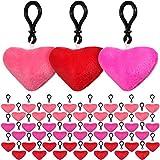 45 Piezas Llaveros de Pompones de Corazón Llaveros de Felpa Decoraciones de San Valentín Mini Juguete de Almohadas en Forma de Corazón para Decoración Pared Hogar Fiesta