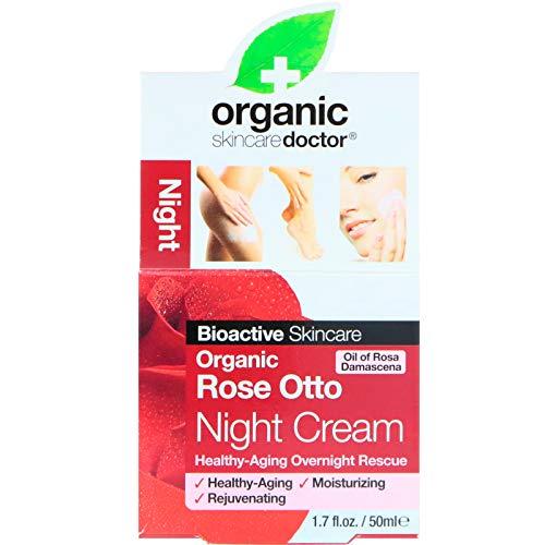 Dr. Organic Rose Otto Crema Viso Notte - 50 ml