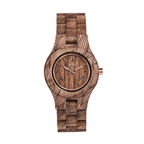 WEWOOD Damen Analog Quarz Smart Watch Armbanduhr mit Holz Armband WW33006