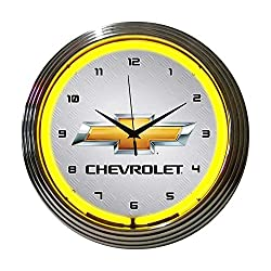 Neonetics Decorative Gm Chevrolet Yellow Neon Wall Clock