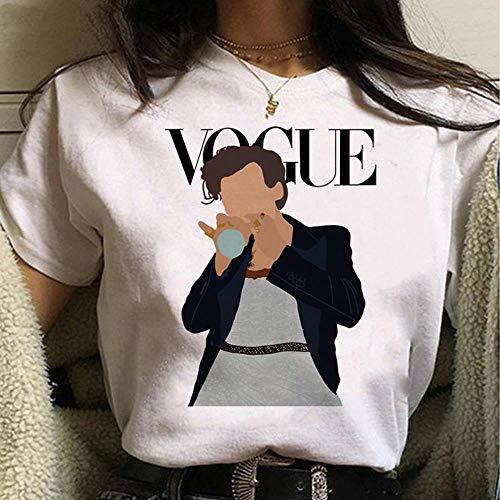XCLWL Camiseta De Mujer Dirección Camiseta De Dibujos Animados para Mujer Tratar A Las Personas con Amabilidad Camisetas Gráficas Camiseta Mujer-A-6_S