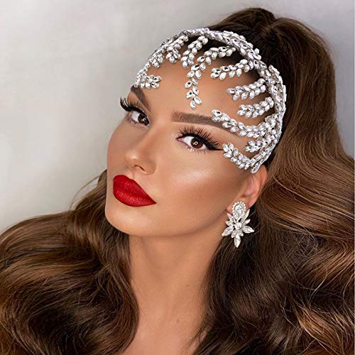 Azaleas Tiara de princesa con cristales para boda, fiesta, plata (HP373)