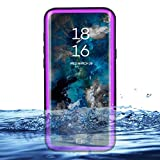 Eazewell Galaxy S9 Waterproof Case, Ultra Slim 100% Underwater Shockproof Snowproof Dirtproof Protective Cover Transparent Back Skin Rugged Box for Samsung Galaxy S9 SM-G960 (Purple)