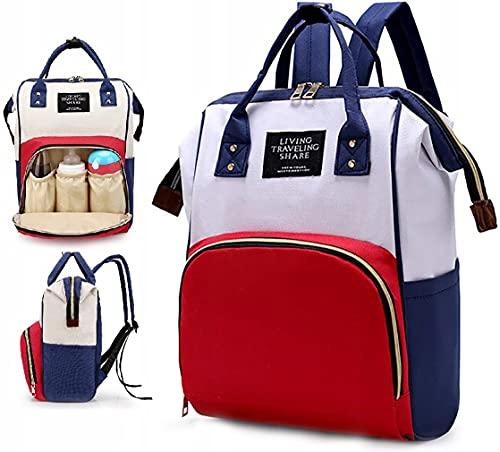 Retoo 35L Baby Wasserabweisend Wickelrucksack für Kinderwagen, Multifunktional Wickeltasche, Rucksack für unterwegs, Stilvolle Babytasche für Reise, Reisetasche, Babyrucksack, Reiserucksack