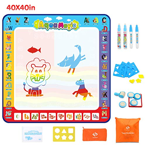 Fansteck Water Doodle Mat, Large Water Drawing Mat 40X40 inch, No Mess...