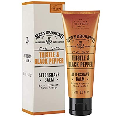 Scottish Fine Soaps Thistle & Black Pepper Aftershave Balm, 75 ml from Scottish Fine Soaps
