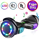 TOMOLOO Hoverboard with LED Lights Two-Wheel Self Balancing Scooter with UL2272 Certified, 6.5' Wheel Electric Scooter for...