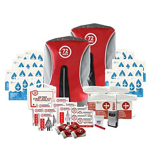 72HRS Essential Earthquake Preparedness Kit, Emergency Kit, Survival Kit, Disaster Kit, Hurricane...