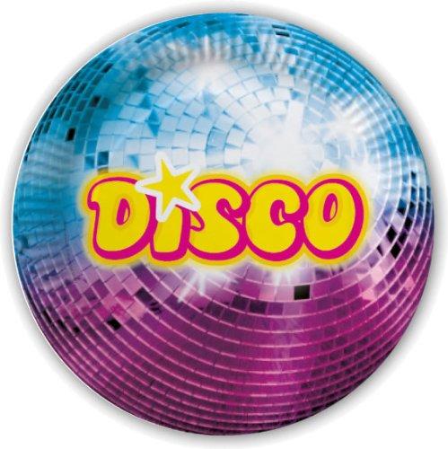 DH-Konzept 10 Pappteller im * Disco * für Party und Geburtstag Teller Partyteller Party Fete Set Mottoparty Glitzer Glitter